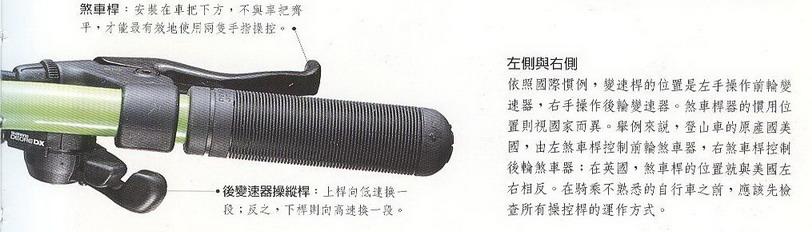1.车架 Frame 头管 (head tube) 上管 (up tube) 下管 (down tube) 立管 (seat tube) 后上叉 (seat stay) 后下叉 (chain stay) 车架大多采用节构最稳定、最解省材料的菱形,选购自行车首先要注意的就是车价的大小是否适合骑乘者的身高和比例,一般是以车架立管的长度来标示尺寸,立管长的上管也越长,就适合高个子。若是以夸下距上管的距离来量测车架是否合身,量测时人跨着单车上管,脚底平采地面,一般休闲骑乘时,跨下距上管约 1~2 英吋,较激烈操控